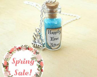 Happy Ever After Bottle Necklace