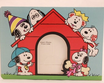 Set of 6 Snoopy Birthday Party Photo Keepsake. Vintage Hallmark