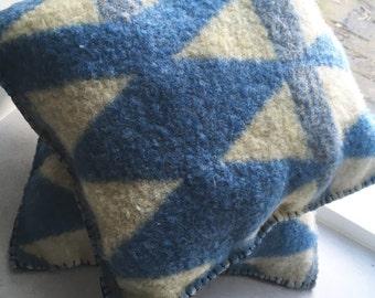 Handmade Dutch blanket pillow