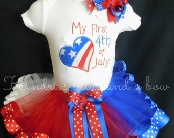 4th fourth of July tutu set my first 4th of July