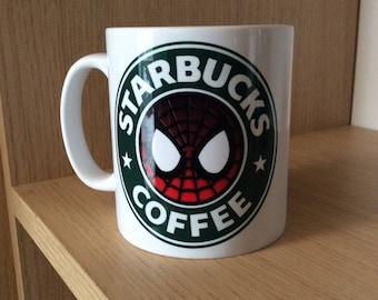 Spider-Man Inspired Coffee Mug
