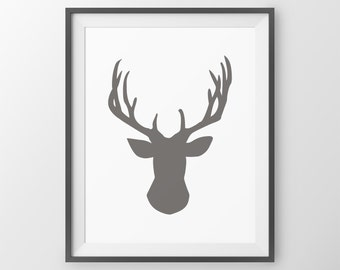 Woodland Nursery Deer Print Deer Antler Decor Antler Print Deer Wall Decor Deer Wall Art Wall Art Deer Picture Deer Poster