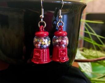 Gumball Machine Earrings, Gumball Machine, Gumball Earrings, Candy Earrings,