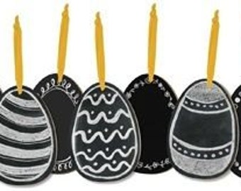 Sale!!!! Chalk Board Eggs-SET OF 5/Wreath Supplies/Easter Eggs/Easter Decor/26868