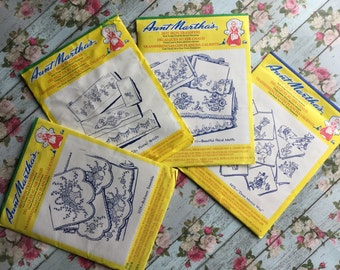 Aunt Martha's Hot Iron Transfers - 4 - Floral, Baskets, Butterflies and Southwestern - Unused