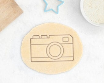Retro Camera Cookie Cutter - SLR Retro Cookie Cutter Vintage Hipster Geek Professional Photographer Gift Birthday Cookie Cutter - 3D Printed