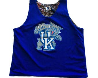 Vintage Kentucky Wildcats NCAA Basketball Jersey by Starter Rare Blue 90s