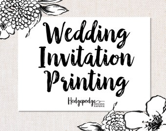 5x7 Wedding Invitation Suite Printing