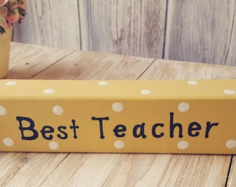 Teacher gift - Personalised Freestanding Large Wooden Pencil