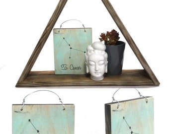 Cancer Constellation Zodiac Sign - Reclaimed Wood Signs
