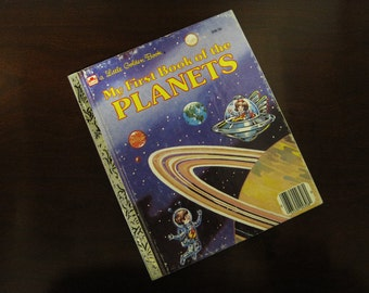 My First Book of The Planets - Vintage Children's Little Golden Book – 308-56