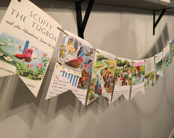 SCUFFY THE TUGBOAT story book page banner bunting garland decoration