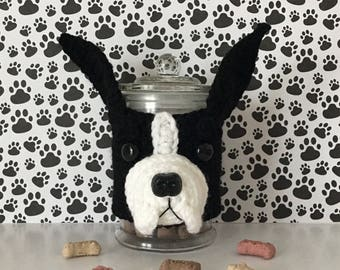 Boston Terrier Gifts - Dog Mama - Fur Baby - Fur Kid - Funny Boston Terrier - Best Dog Ever - Dog Treat Jar - I love my Dog - Animal Rescuer
