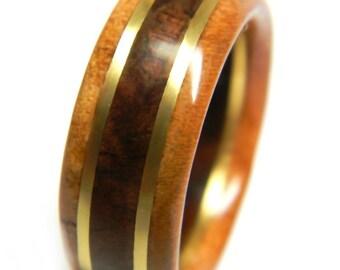 Stylish Walnut and Cherry Wood Wedding Band, 5th Anniversary, Fifth Anniversary, Wood Anniversary, For Him, Men's Gift, Man's Ring,