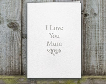 Mother's Day Card, I love you mum card, lovey mothers day card