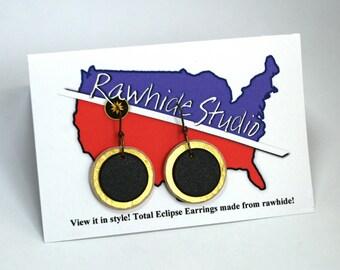Solar Eclipse Earrings!