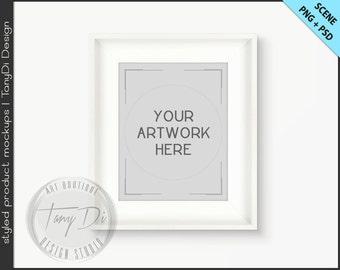 white wide frame 8x10 mockup 4 png scene empty frame on white wall styled mockup w2 black board portrait landscape frame