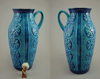 Vintage floor vase / Bay / 261 40 / Bodo Mans | West Germany | WGP | 60s