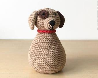 Doorstop dog, made in crochet in pure cotton.