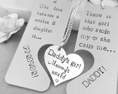 Daddys Girl Mummys World Set Daddy Daughter Set Mother Daughter Necklace Daddy Key Chain Dad Gift Mum Gift Family jigsaw set heart