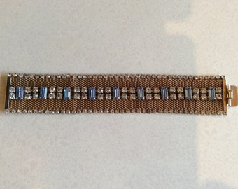 HOBE bracelet,1950s high quality mesh and pastes bracelet