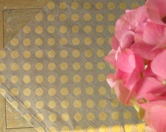 Linen placemates,  wedding decor,Linen Cloth Placemates, Wedding Dinner, linen with dots, natural linen