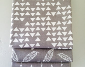 SALE!! Fat Quarter Bundle By Popular Demand by Simple Simon for Riley Blake Designs with Hash Tag Fabric- 3 Fabrics Gray