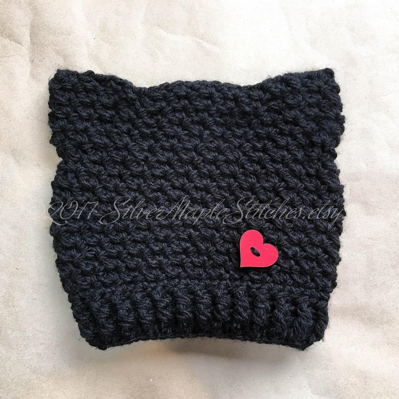 Beautiful Cat Hat Pattern Crochet Vignette - Sewing Pattern for ...