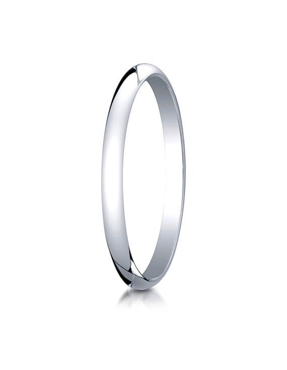 10kt White Gold Wedding Band 2mm 2mm Wedding Ring White