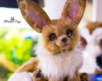 CUSTOM ORDER!Poseable Pokemon Eevee. Fox plush