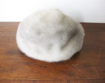SALE | Vintage Grey Fur Hat