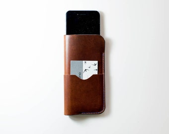 iPhone Case with Card Pocket, Leather iPhone Case, iPhone Cover, iPhone Sleeve, iPhone Holder