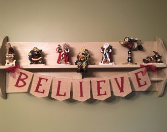 Christmas Banner, Christmas Garland, Christmas decor, Christmas decoration, Christmas photo prop, Christmas Bunting, Believe banner