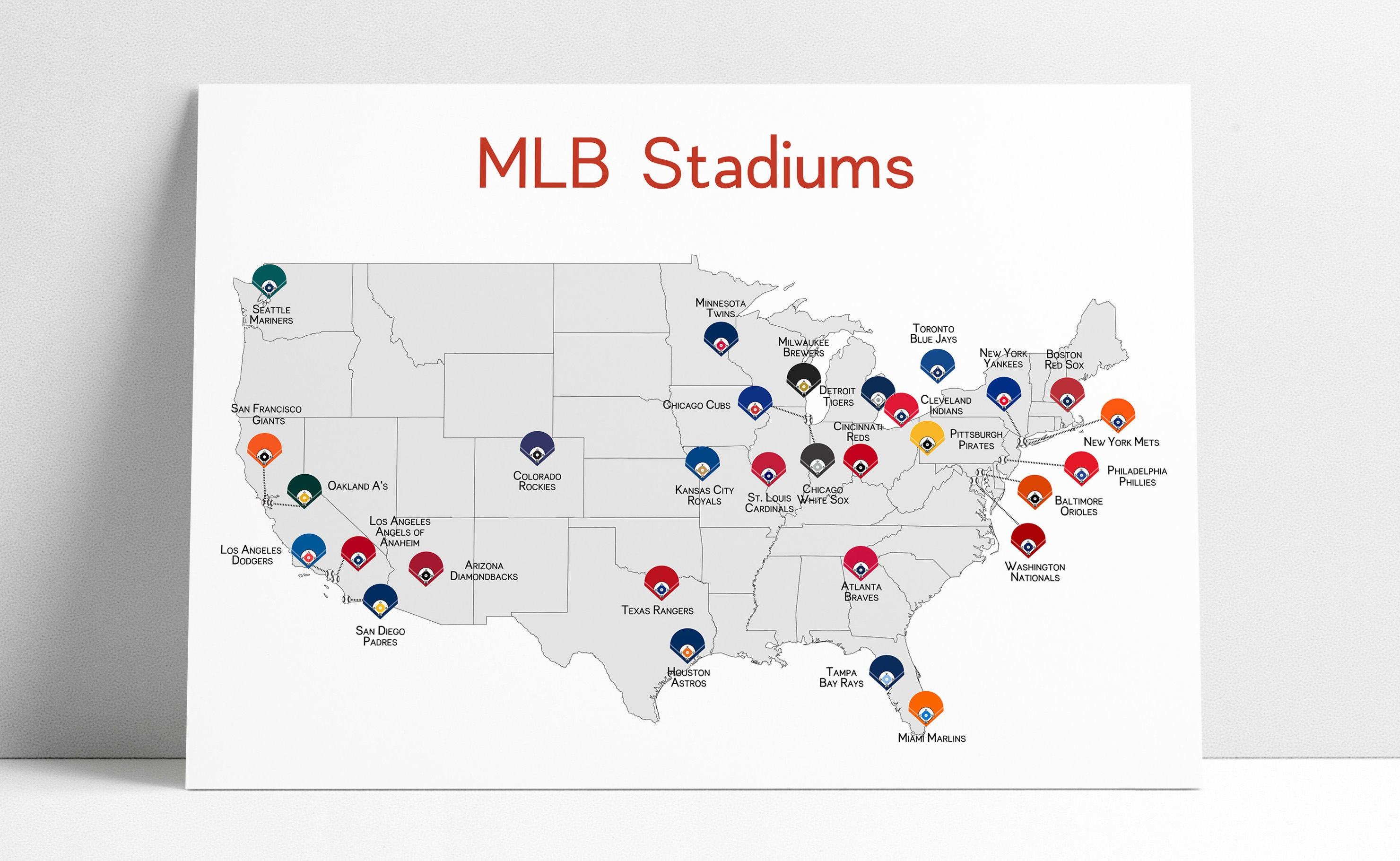 What Happens To MLB When The Polar Ice Caps Melt SBNationcom - Us map of baseball stadiums