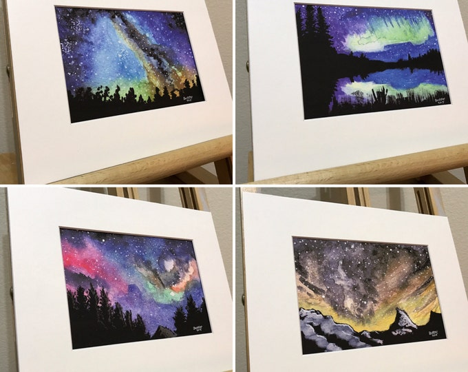 Featured listing image: Galaxy night sky complete set of prints.