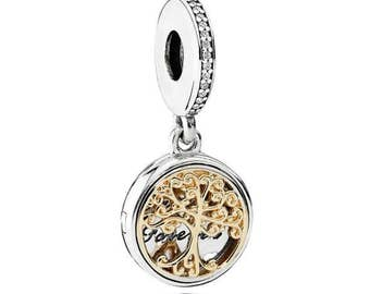 Sterling Silver Family Roots Charm