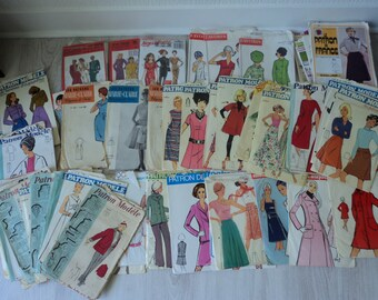 REDUCED - 45 French Vintage assorted sewing patterns for use or resale (04815)
