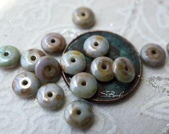 Greestone Discs, Disc Spacers, Czech Beads, N1790