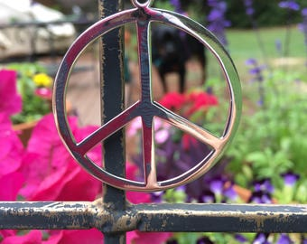 Big peace sign pendant