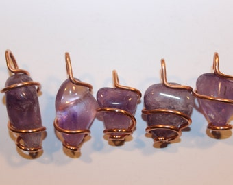 amethyst and recycled copper
