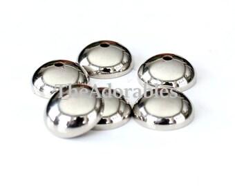 30pcs--Bead Caps, Nickel Color  12mm (B68-5)