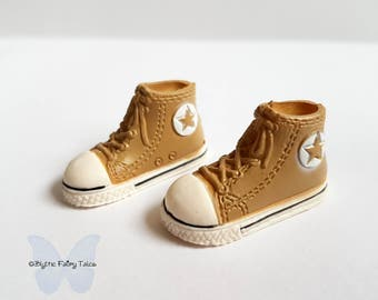 BLYTHE / Pullip  shoes -  Brown sport converse  - fashion shoes