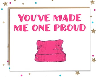 Mothers Day Card, Card for Mom, Mothers Day Gift, Feminist Card, Women's March, Pink Pussy Hat, Birthday Card, Protest Card, Greeting Card