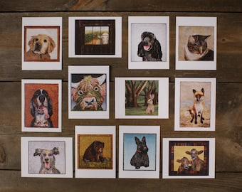 Package of twelve 4.25 x 5.5 Blank Greeting Cards with Envelopes