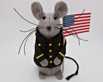 Military Mouse - Felt Mice - Felt Mouse - Military Mouse Ornament