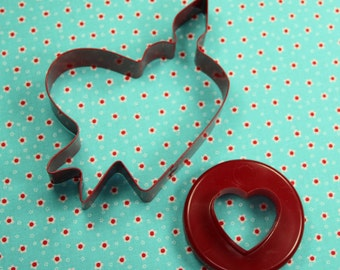 Two Pc. Red Heart Valentine Cookie Cutter Set