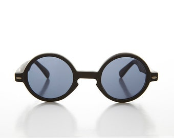 Round Pantos 1930s Harry Potter Style Black Vintage Sunglasses - Harry