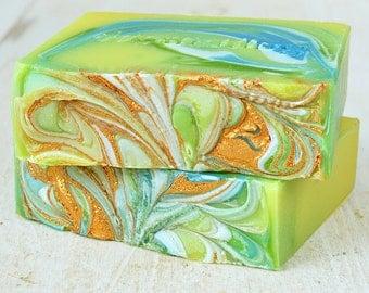 JASMINE All Natural Organic Vegan Soap. Handmade with Kaolin Clay. Cold Process.