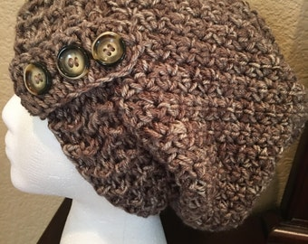 Brown Slouchy Hat/Beanie