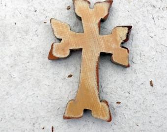Armenian Cross, Wooden Wall Cross, Religious Decor, Khachkar Cross, Baptism Gift, Christian Decor, Recycled Wood Cross, Wood Wall Cross
